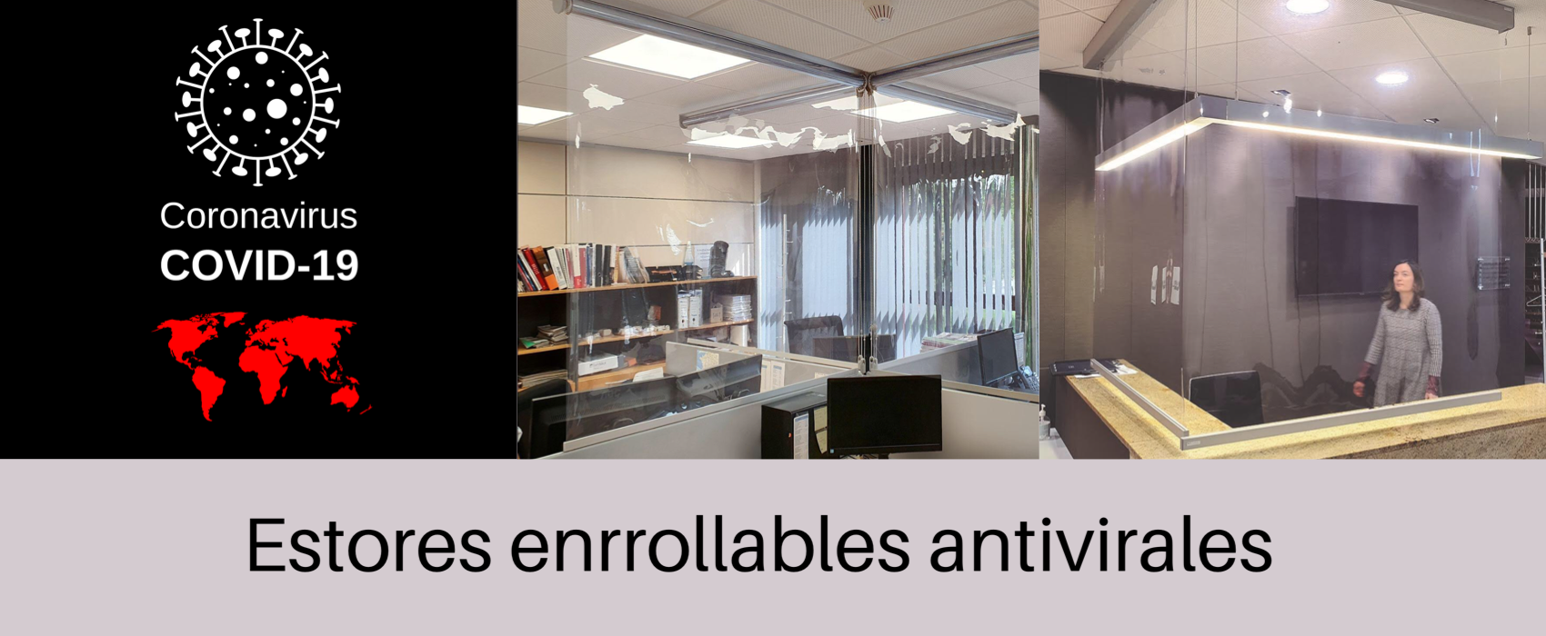 estores enrrollables antivirales